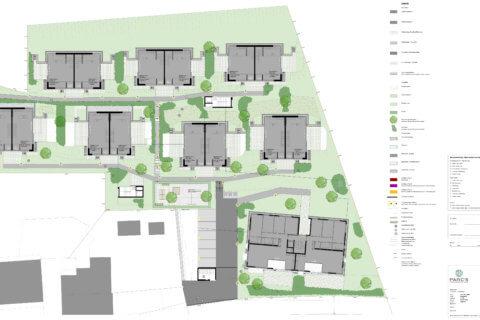 Wohnüberbauung Bertschikon Landschaftsarchitektur Grundriss