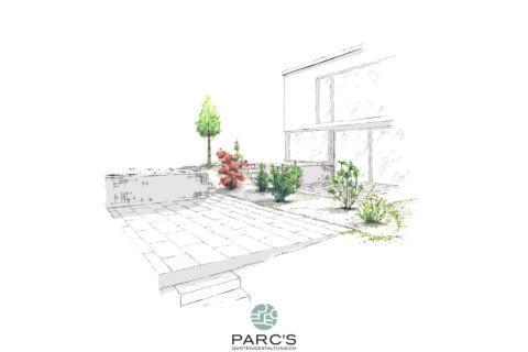 Wohnüberbauung-Bertschikon-Landschaftsarchitektur-Visualisierung 1
