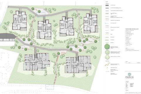 Wohnüberbauung Landschaftsarchitektur Felmispark - Grundriss