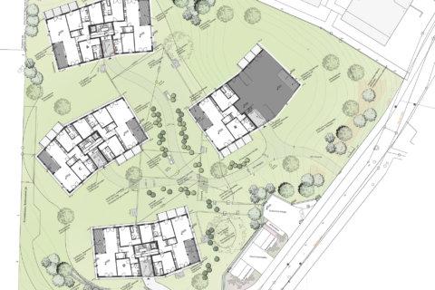 Wohnüberbauung-Wädenswil-Landschaftsarchitektur-Grundriss